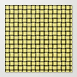 Small Khaki Yellow Weave Canvas Print