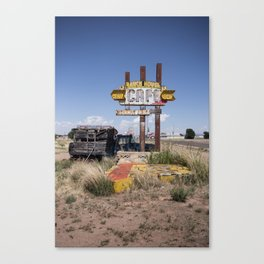 Tucumcari: Cafe Canvas Print