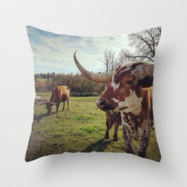 Sheriff and Little Girl Throw Pillow
