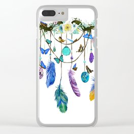 Folkestone Feather, Crystal And Butterfly Spirit Gazer Clear iPhone Case