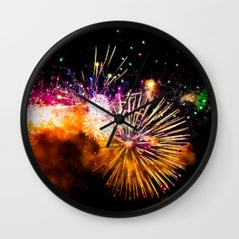 Fireworks Display Addison Texas Kaboom Town 2017 Wall Clock