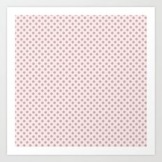 Taupe Polka Dots on Pink Art Print