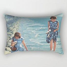 Walk on the Beach Rectangular Pillow