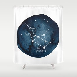 Sagittarius Zodiac Constellation Shower Curtain