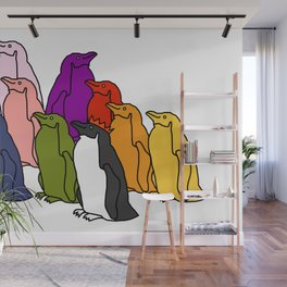 Full Colour Penguin Party Wall Mural