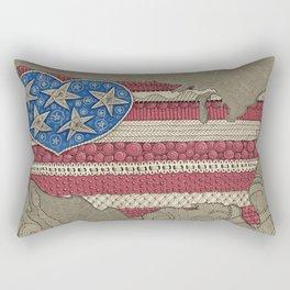 Americana Flag Map Rectangular Pillow