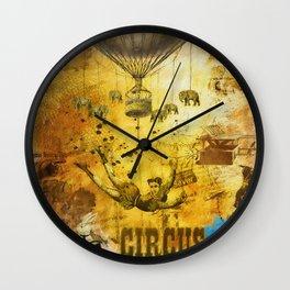 Vintage Circus Poster Wall Clock
