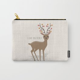 I love you deerly Carry-All Pouch