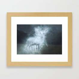 Stag Patronus Framed Art Print