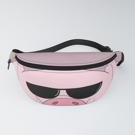lovely pig with glasses, waddles Fanny Pack