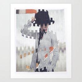 hand on hat Art Print