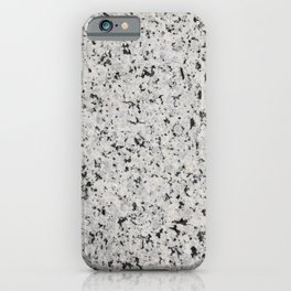 Black and white granite iPhone Case