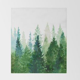Pine Trees 2 Throw Blanket