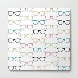 Colorful Funky Glasses Metal Print