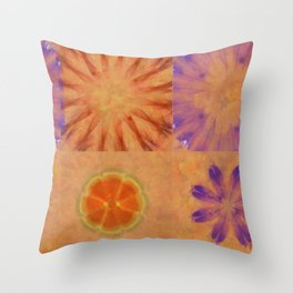 Triumvirs Unconcealed Flower  ID:16165-043712-23190 Throw Pillow