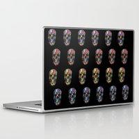 skulls Laptop & iPad Skins featuring skulls by Nastya Bo