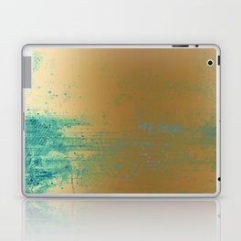 457 13 Teal and Gold Laptop & iPad Skin
