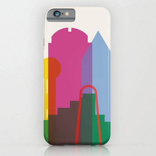 Shapes of Dallas. Accurate to scale. iPhone & iPod Case