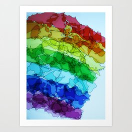 rainbow nation Art Print