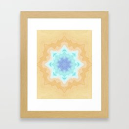 Sandy Portal Fractal Light Source Kaleidoscope Digital Painting Framed Art Print