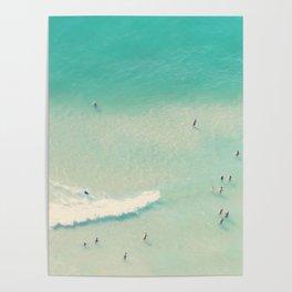 beach summer waves Poster