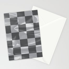 Chequered Silk Flag Stationery Cards