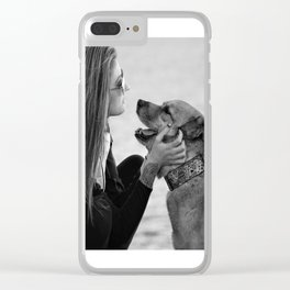 pet and master Clear iPhone Case