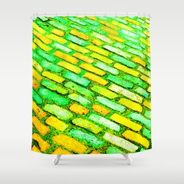 Diagonal Cobble Stones Shower Curtain