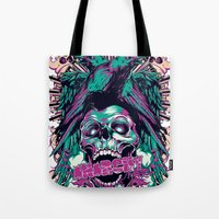 anarchy Tote Bags featuring Anarchy ravens by Tshirt-Factory