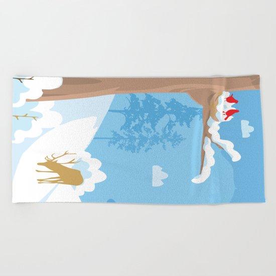 Christmas Landscape Beach Towel