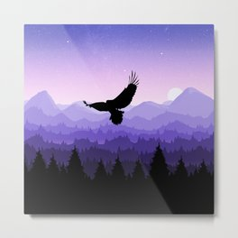 Eagle Skyline Metal Print