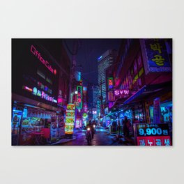 Cyber Seoul Canvas Print