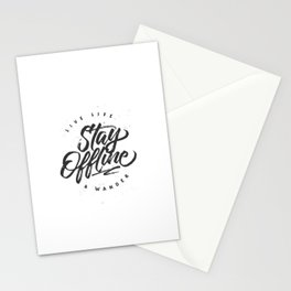 Stay Offline Stationery Cards