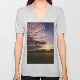 Underneath the Oklahoma Sky Unisex V-Neck