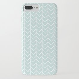 Herringbone Mint iPhone Case
