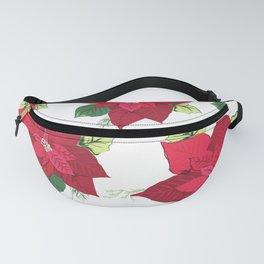 Christmas Poinsettia Fanny Pack