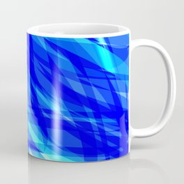 Vector glowing water background made of blue sea lines. Coffee Mug