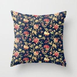 Shabby Floral Print Throw Pillow