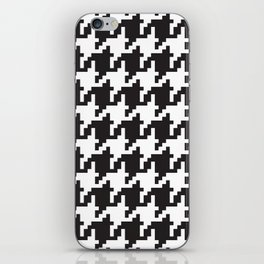Houndstooth - Black & White iPhone Skin