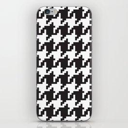 Houndstooth - Black & White iPhone Skin