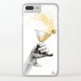 Shaken Martini Clear iPhone Case