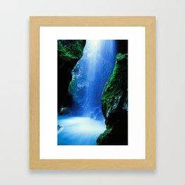 Waterfall-Orridi di Rio Basino Framed Art Print