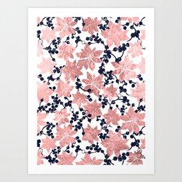 Plants pattern Art Print