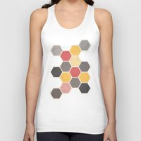 honeycomb Tank Tops featuring Honeycomb 3 by K&C Design