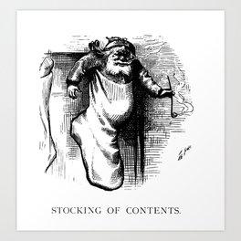 Stocking of Contents - Thomas Nast Art Print
