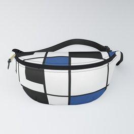 Indigo , abstract , geometric Fanny Pack