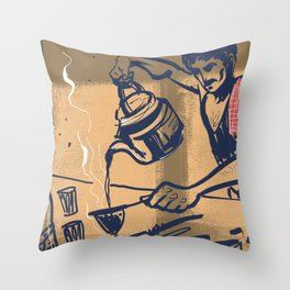 Tapri - Indian Tea Stall Throw Pillow