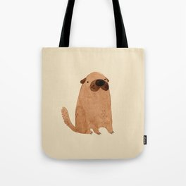 Brown Doggy Tote Bag