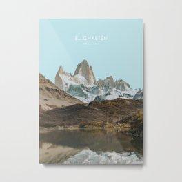 El Chalten, Argentina Travel Artwork Metal Print
