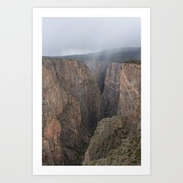 When the Fog Rolled In | Black Canyon Art Print